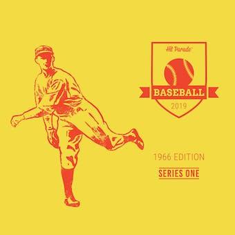2019 Hit Parade Baseball 1966 Edition - Series 1 - Hobby Box /203 -Mantle-Mays-Jenkins-PSA