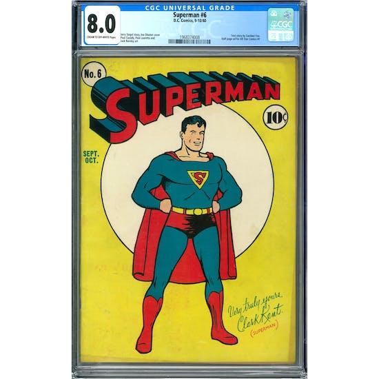 Superman #6 CGC 8.0 (C-OW) *1968374008*