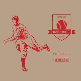 2019 Hit Parade Baseball 1968 Edition - Series 1 - 10 Box Hobby Case /203 - Ryan RC-Mantle-Bench-PSA