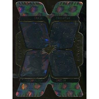 2007/08 Upper Deck SPx Force Quad Holograms #F3 Joe Sakic/Vincent Lecavalier/Joe Thornton/Jason Spezza