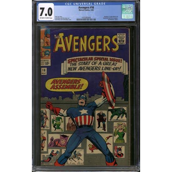 Avengers #16 CGC 7.0 (OW-W) *1970383008*