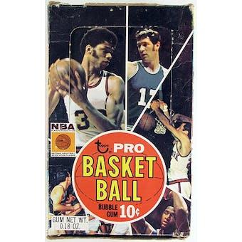 1970/71 Topps 2nd Series Basketball Wax Box