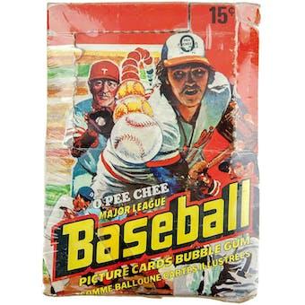 1978 O-Pee-Chee Baseball Wax Box