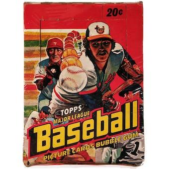 1978 Topps Baseball Wax Box