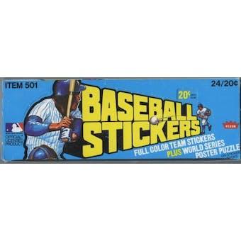 1979 Fleer Baseball Logo Stickers Box