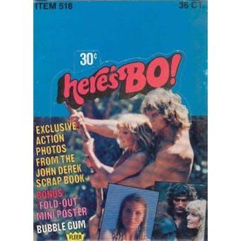 Here's BO! Bo Derek Trading Cards Wax Box (1981 Fleer)