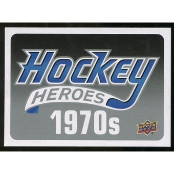 2012/13 Upper Deck Hockey Heroes #HDR Header Card 1970s