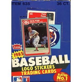 1985 Fleer Baseball Wax Box