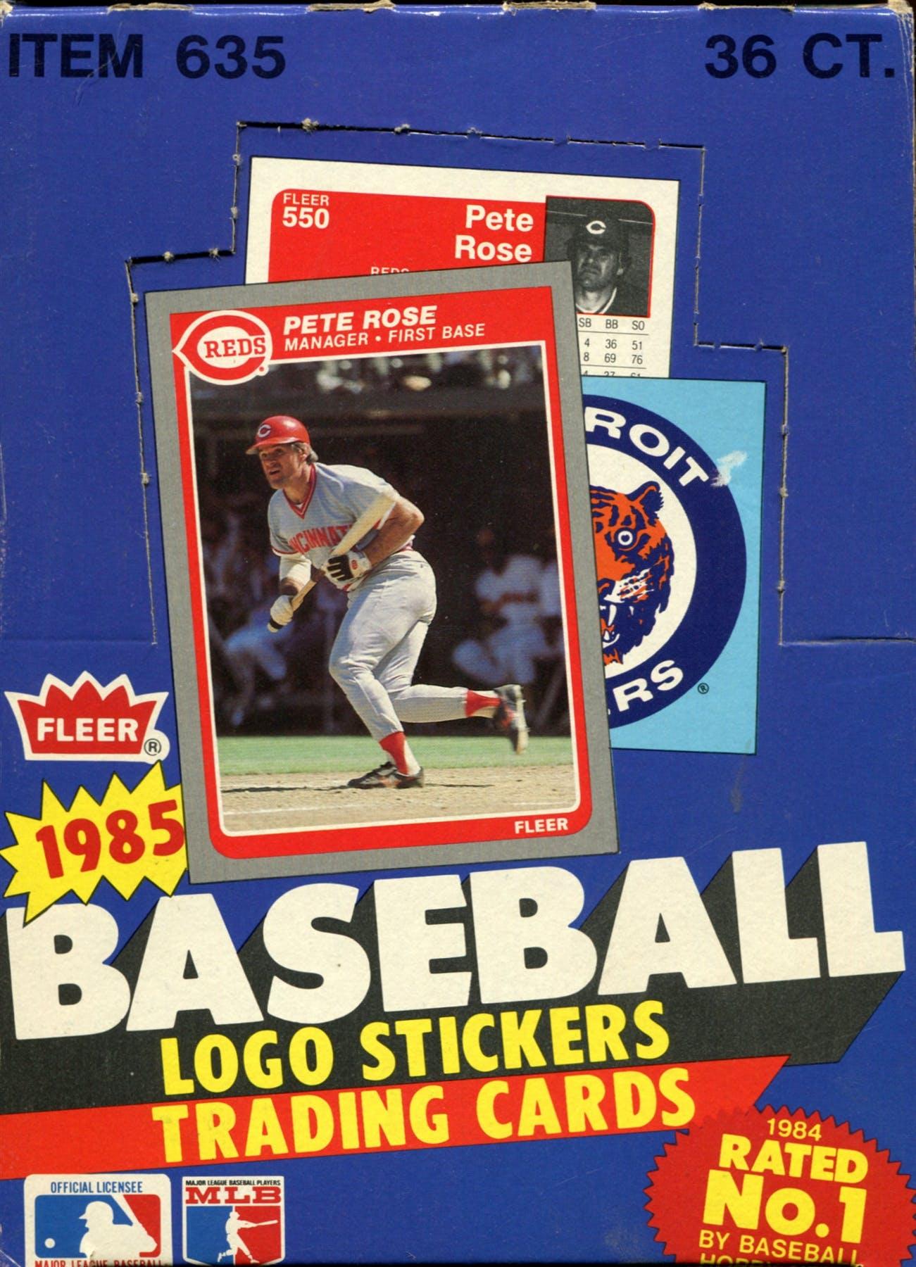 1985 Fleer Baseball Wax Box Da Card World