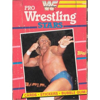1985 Topps WWF Pro Wrestling Stars Wax Box