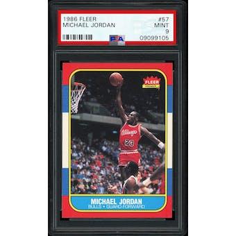1986/87 Fleer Michael Jordan PSA 9 card #57