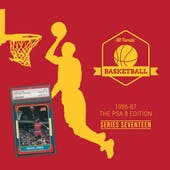 2019/20 Hit Parade Basketball 1986-87 The PSA 8 Edition - Series 17 - Hobby Box /132 PSA Jordan (PRESELL)