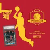 2019/20 Hit Parade Basketball 1986-87 The PSA 8 Edition - Series 21 - Hobby Box /132 PSA Jordan (SHIPS 11/20)