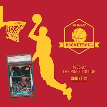 2019/20 Hit Parade Basketball 1986-87 The PSA 8 Edition - Series 21 - Hobby Box /132 PSA Jordan