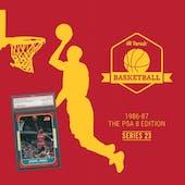 2020/21 Hit Parade Basketball 1986-87 The PSA 8 Edition - Series 1 - Hobby Box /143 PSA Jordan