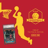 2019/20 Hit Parade Basketball 1986-87 The PSA 8+ Edition - Series 1 - Hobby Box /143 PSA Jordan (SHIPS 8/21)