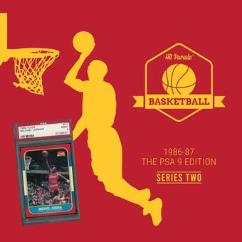 2019/20 Hit Parade Basketball 1986-87 The PSA 9 Edition - Series 3 - Hobby Box /132 PSA Jordan (Ships 7/10)