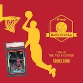 2019/20 Hit Parade Basketball 1986-87 The PSA 9 Edition - Series 4 - Hobby Box /132 PSA Jordan (Ships 10/16)