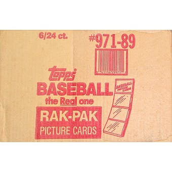 1989 Topps Baseball Rack 6-Box Case
