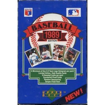 1989 Upper Deck Low # Baseball Wax Box