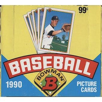1990 Bowman Baseball Jumbo Box