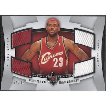 2007/08 Ultimate Collection #LJ LeBron James Leadership Jersey #54/99