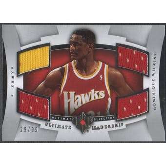 2007/08 Ultimate Collection #WI Dominique Wilkins Leadership Jersey #29/99