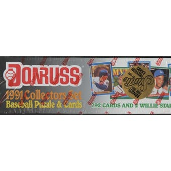 1991 Donruss Baseball Factory Set (Studio Preview)