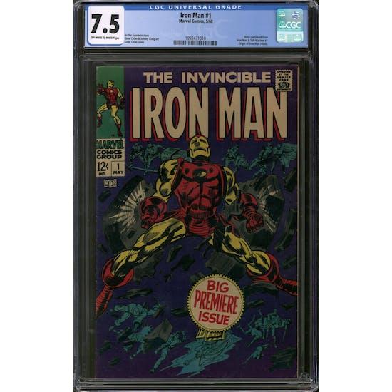 Iron Man #1 CGC 7.5 (OW-W) *1992431010*