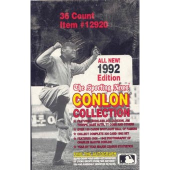 1992 Conlon Collection Baseball Box