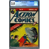 Action Comics #20 CGC 2.0 (C-OW) *1993912002*