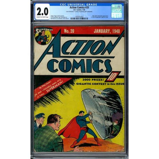 Action Comics #20 CGC 2.0 (C-OW) *1993912002*