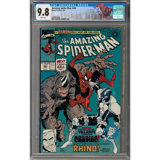 Amazing Spider-Man #344 CGC 9.8 (W) Spider-Man NYC Label *1994812006*