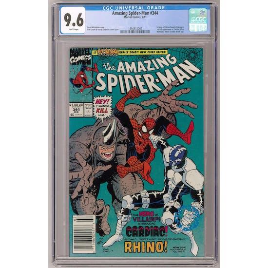 Amazing Spider-Man #344 CGC 9.6 (W) Newsstand *1994812007*