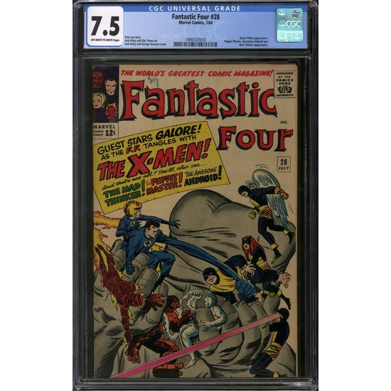 Fantastic Four #28 CGC 7.5 (OW-W) *1995107010*