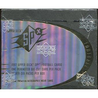 1997 Upper Deck SPx Football Hobby Box