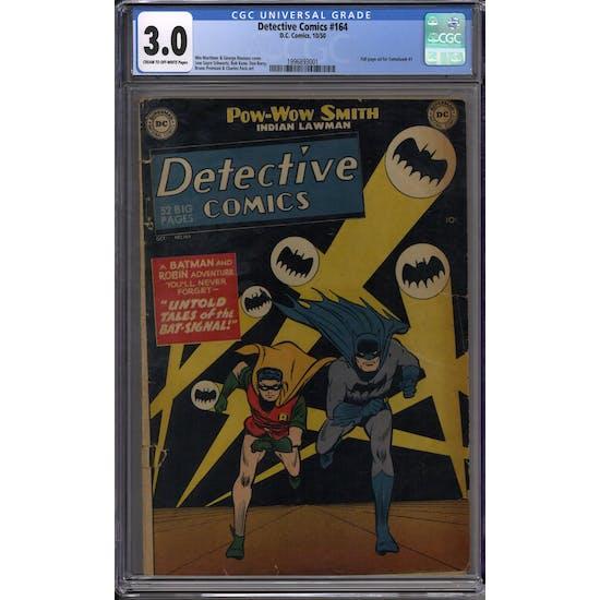 Detective Comics #164 CGC 3.0 (C-OW) *1996893001*