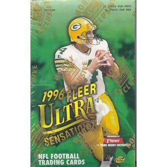 1996 Fleer Ultra Sensations Football Hobby Box