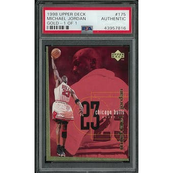 1998 Upper Deck Michael Jordan Gold 1/1 Checklist Card #175 PSA     TRUE 1/1    VERY FIRST 1/1    HOLY GRAIL!!