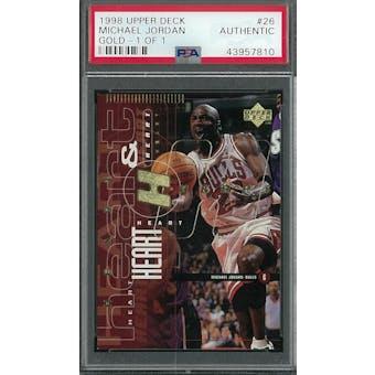 1998 Upper Deck Michael Jordan Gold 1/1 Card #26 PSA    TRUE 1/1    VERY FIRST 1/1    HOLY GRAIL!!!!