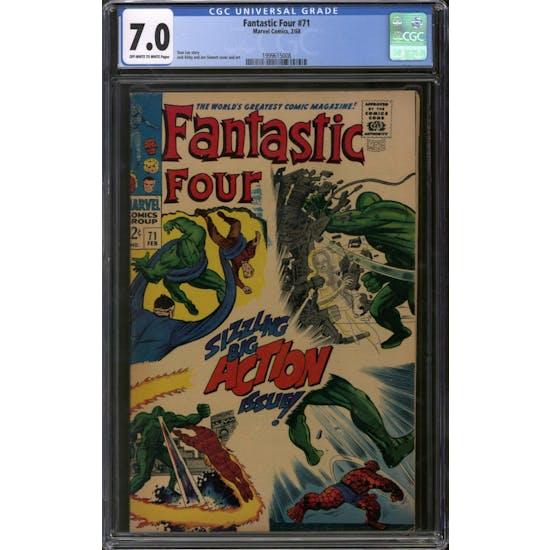 Fantastic Four #71 CGC 7.0 (OW-W) *1999615008*
