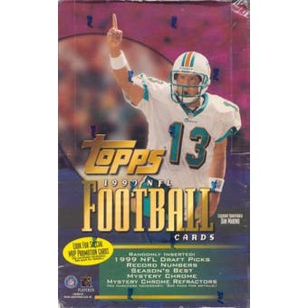 1999 Topps Football Retail 36 Pack Box