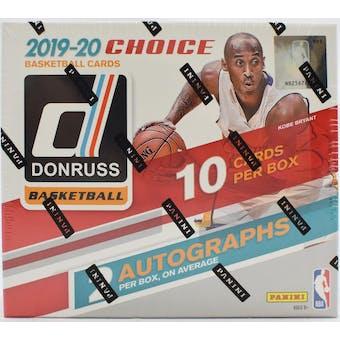 2019/20 Panini Donruss Choice Basketball Hobby Box