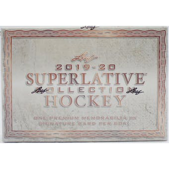 2019/20 Leaf Superlative Collection Hockey Hobby Box