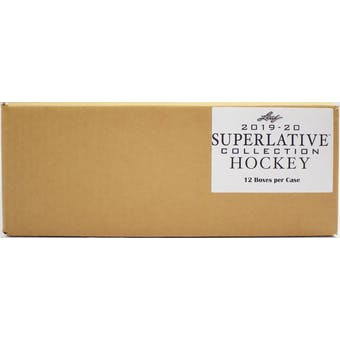 2019/20 Leaf Superlative Collection Hockey Hobby 12-Box Case