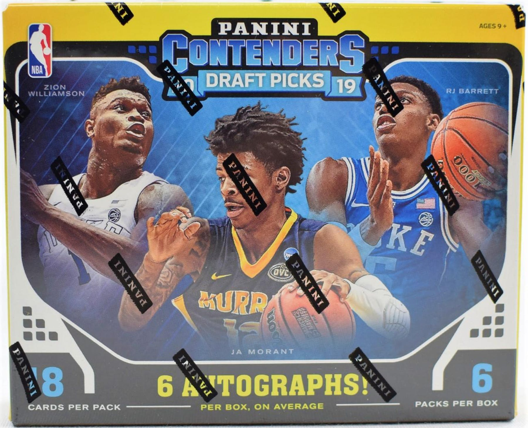 2019 20 Panini Contenders Draft Basketball Hobby Box Da