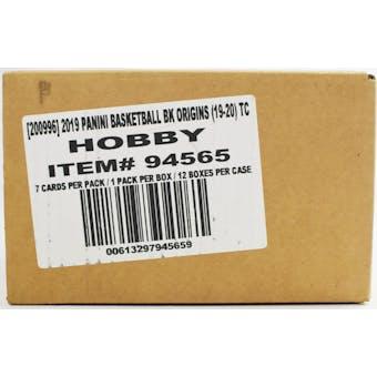 2019/20 Panini Origins Basketball Hobby 12-Box Case