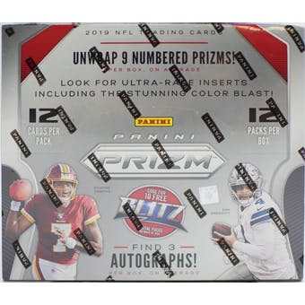2019 Panini Prizm Football 4-Box - DACW Live 32 Spot Pick Your Team Break #1