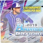 2019 Bowman Chrome Baseball HTA Choice 12-Box Case- DACW Live 28 Spot Random Team Break #1