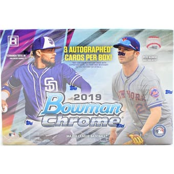 2019 Bowman Chrome Baseball HTA Choice 12-Box Case- DACW Live 28 Spot Random Team Break #1